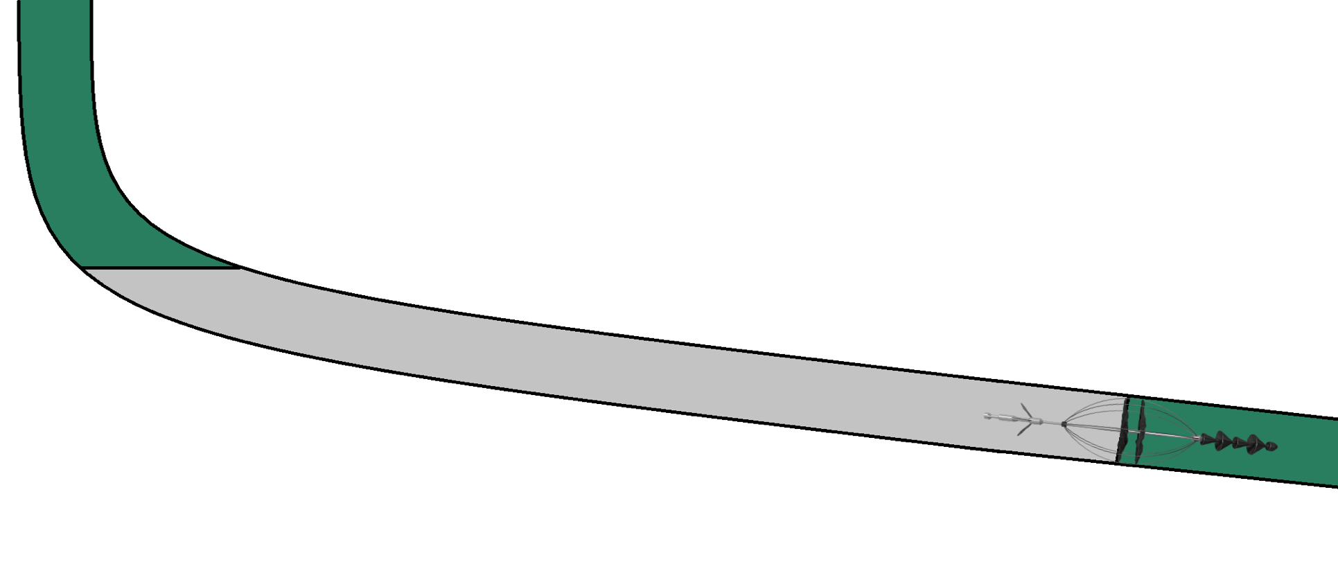 Use of CST as base in a high angle well - Perigon