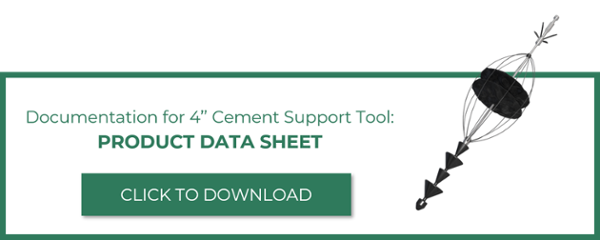 Click to download documentation for 4-inch cement support tool